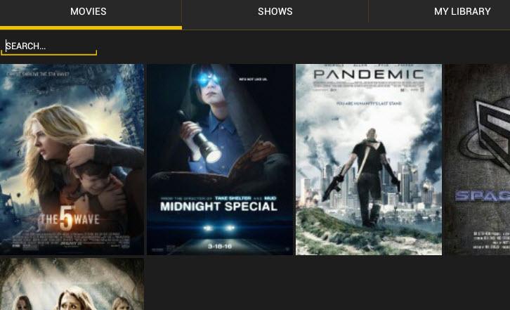 Showbox sci-fi movies